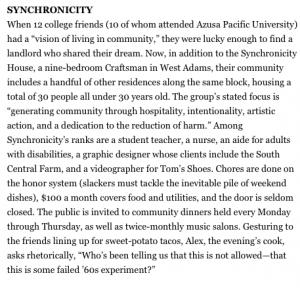 Synch in Good Magazine!